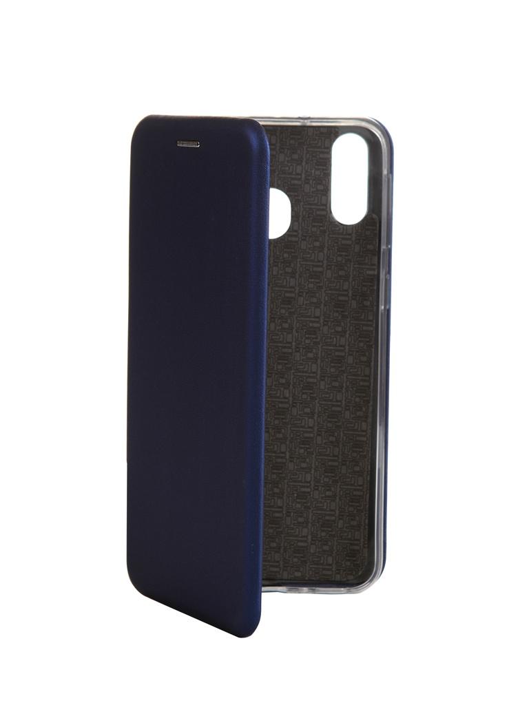 Чехол Innovation для Samsung Galaxy M20 Book Silicone Magnetic Blue 15510 фото