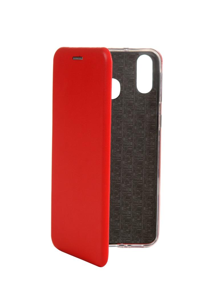 Чехол Innovation для Samsung Galaxy M20 Book Silicone Magnetic Red 15513