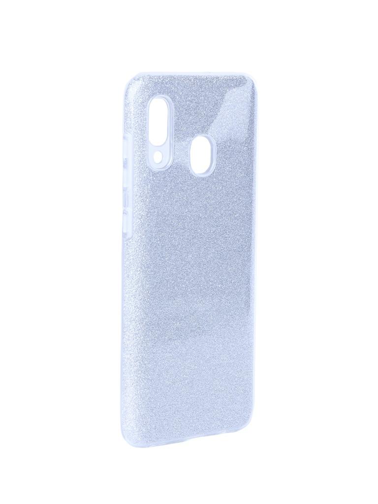 Чехол Neypo для Samsung Galaxy A20 2019 Brilliant Silicone Silver Crystals NBRL11534
