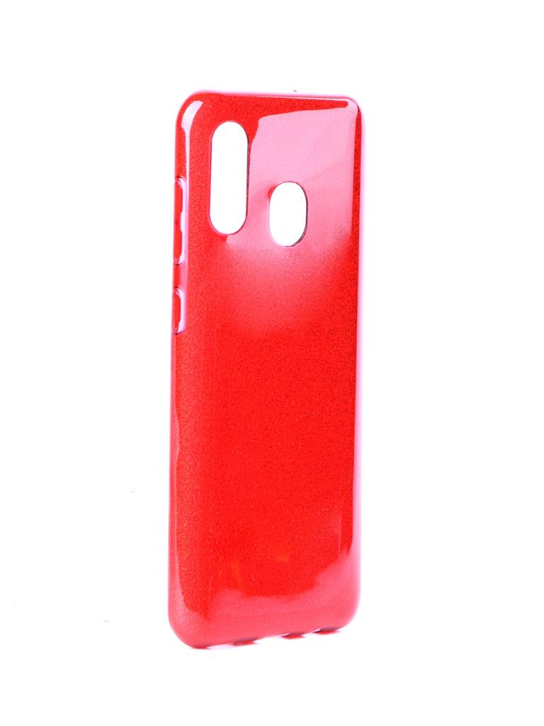 Чехол Neypo для Samsung Galaxy A20 2019 Brilliant Silicone Red Crystals NBRL11535