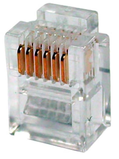 Коннектор 5bites RJ-12 6P6C US030A - 100шт
