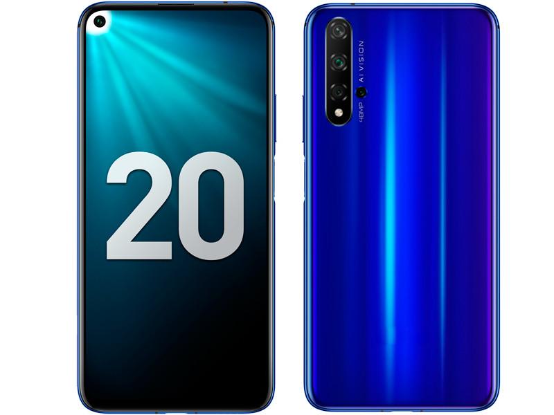 Сотовый телефон Honor 20 128Gb Sapphire Blue & Wireless Headphones Выгодный набор + серт. 200Р!!!