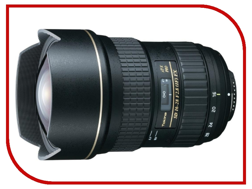 Объектив Tokina AT-X 16-28mm f/2.8 Pro FX Nikon F розетка y28m yp28 28mm 19 y2m