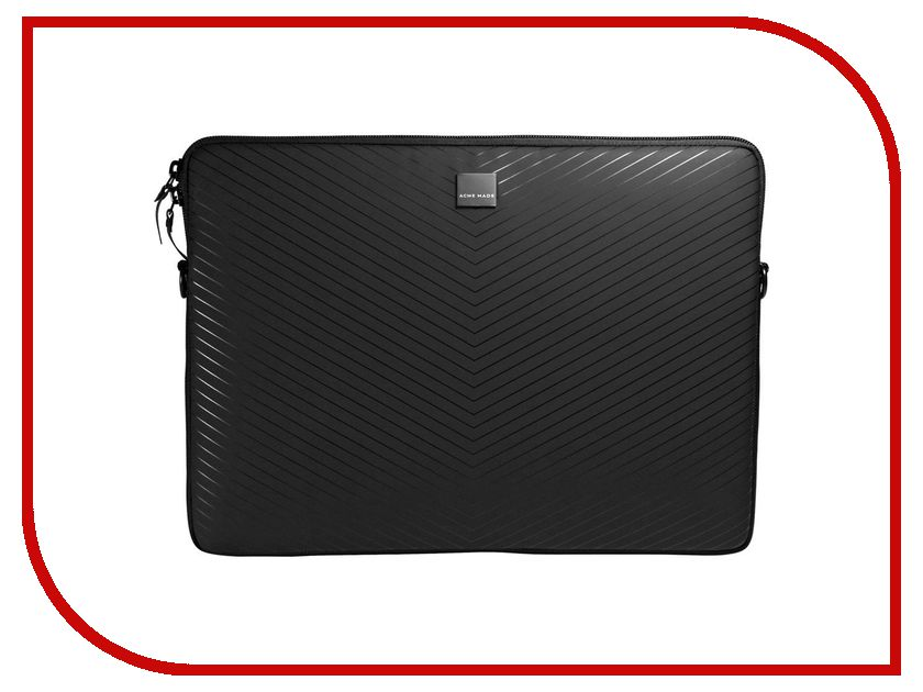 Аксессуар Сумка 16.0 Acme Made Smart Laptop Sleeve Black Chevron AM00875 / 78783 2018 new women wallets oil wax genuine leather high quality long design day clutch cowhide wallet fashion female card coin purse