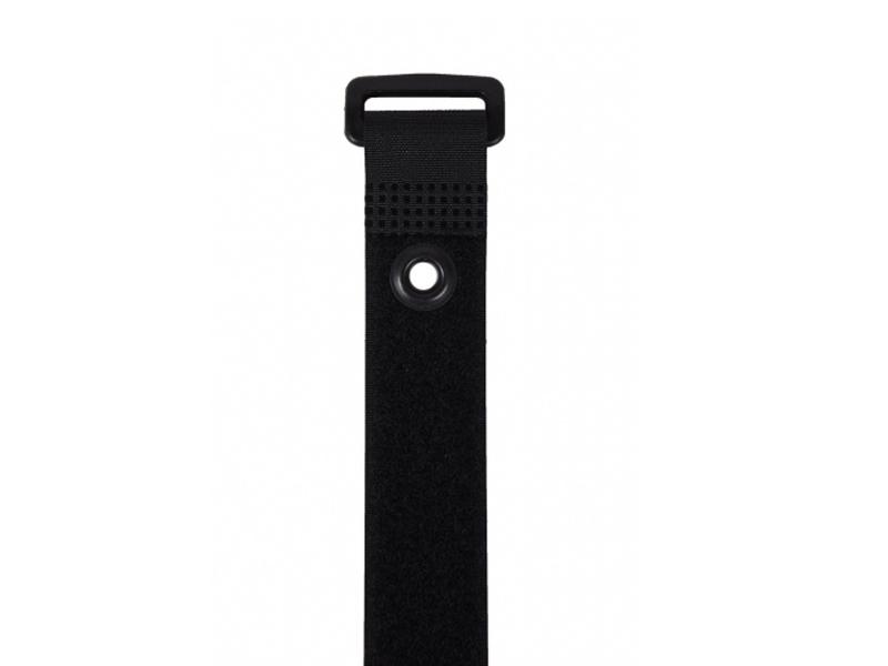 Ремень-липучка EasyGrip PG 300x25mm Black с монтажным отверстием