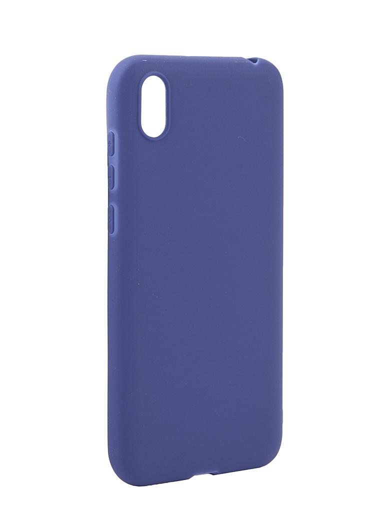 Аксессуар Чехол Pero для Huawei Y5 2019 Soft Touch Blue CC01-Y519BL
