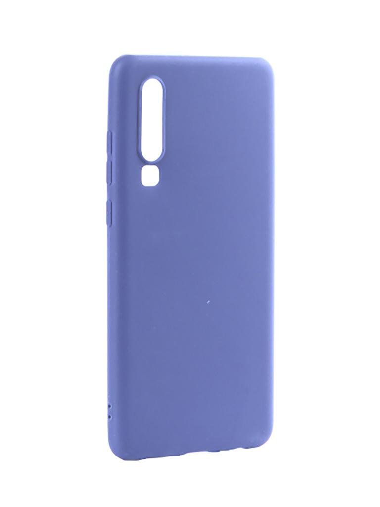 Аксессуар Чехол Pero для Huawei P30 Soft Touch Blue CC01-P30BL