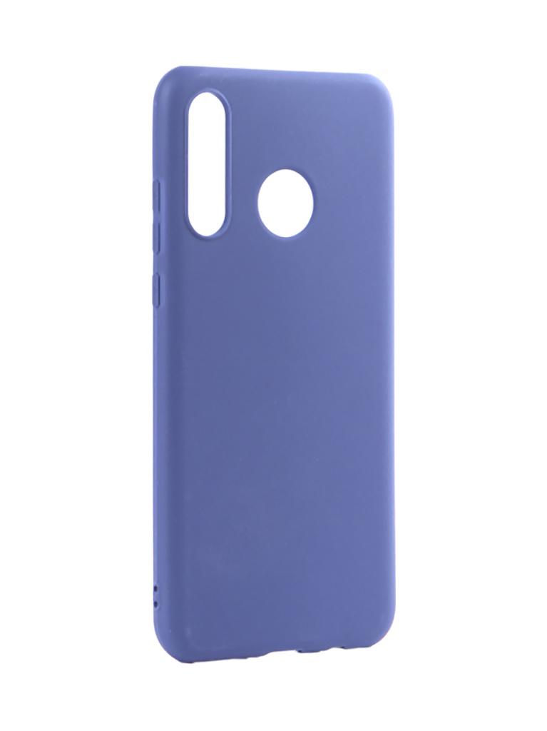 Аксессуар Чехол Pero для Huawei P30 Lite Soft Touch Blue CC01-P30LBL