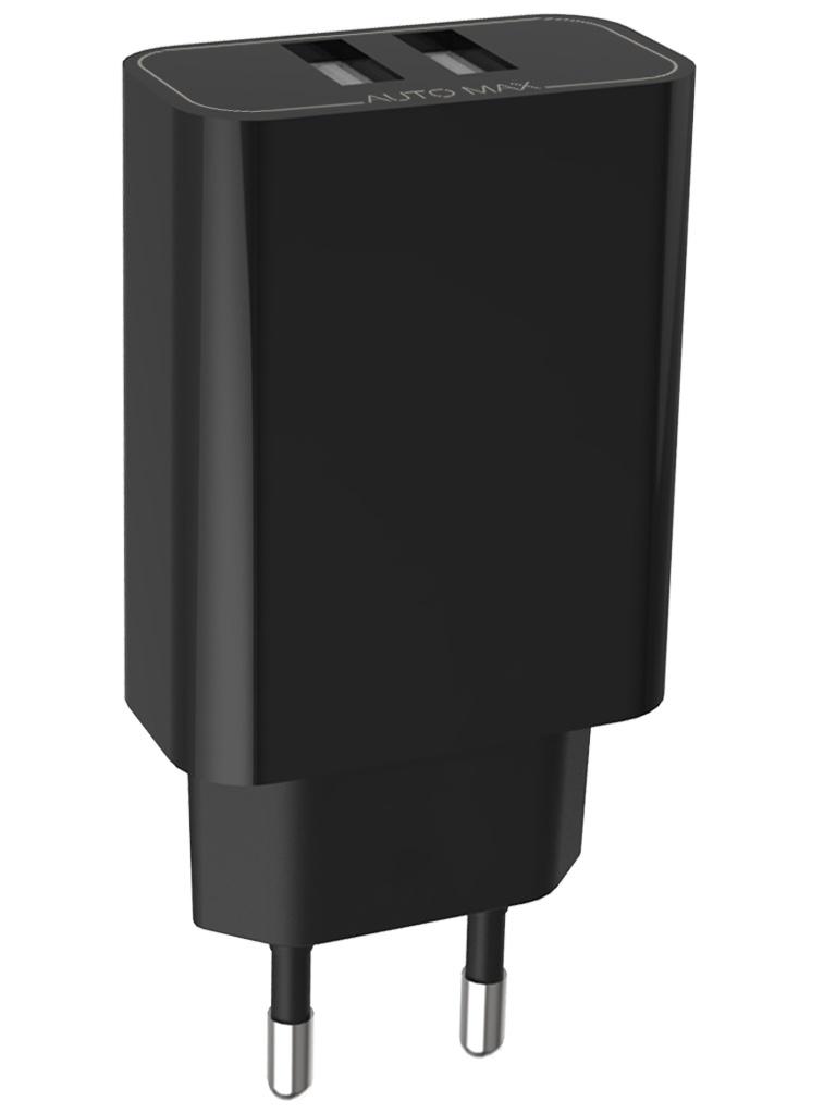 Зарядное устройство Pero TC02 2xUSB 3.4A Black TC02BL3A