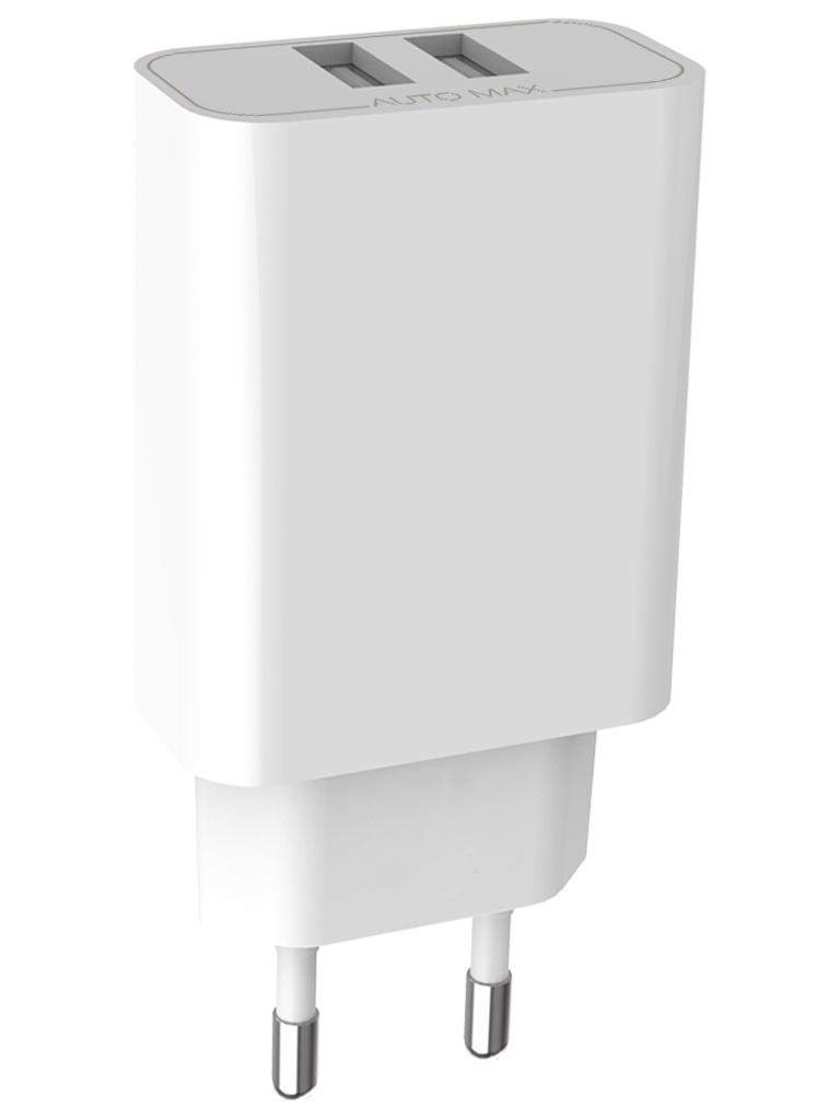 Зарядное устройство Pero TC02 2xUSB 2.1A White ТС02W2A