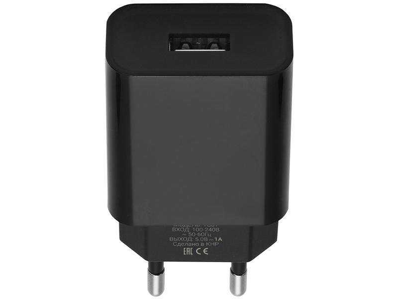 Зарядное устройство Pero TC01 1xUSB 1A Black ТС01BL1A