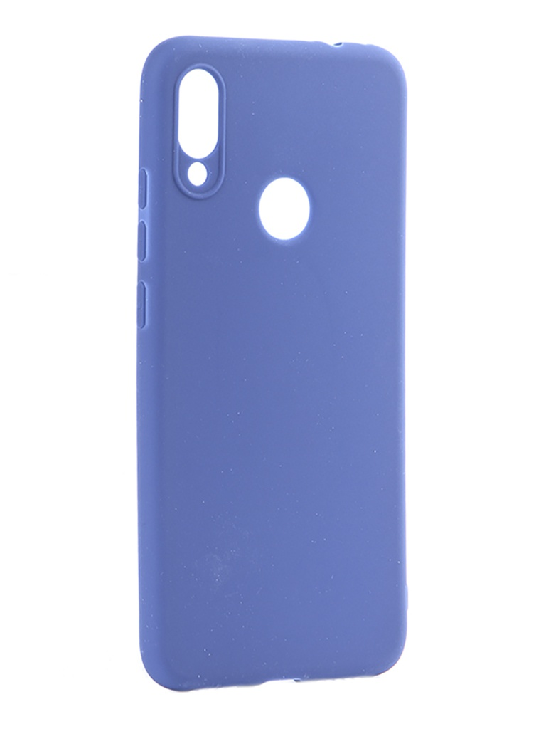 Чехол Pero для Xiaomi Redmi Note 7 Soft Touch Blue CC01-RN7BL