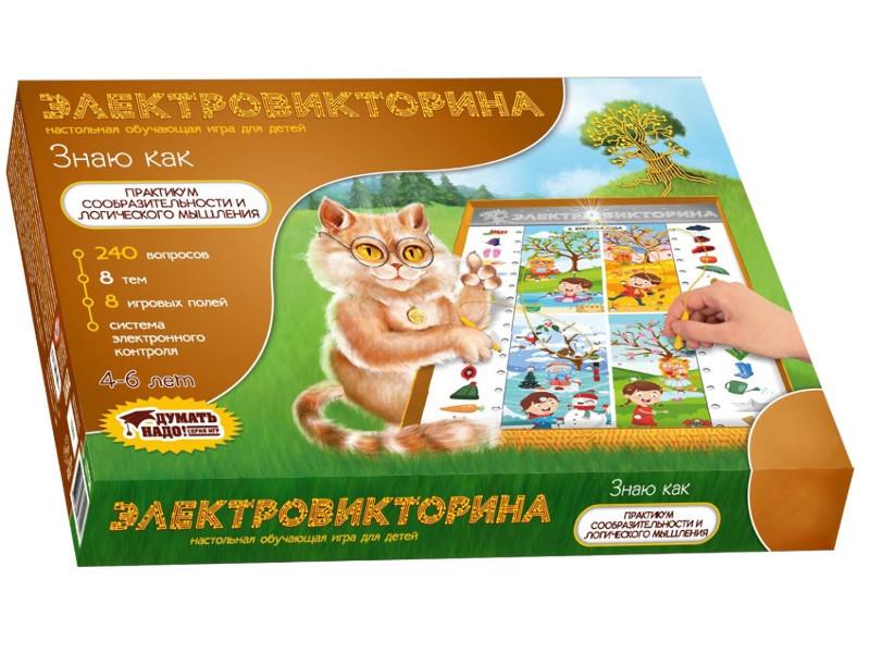 Настольная игра Десятое Королевство Электровикторина Знаю как 03704