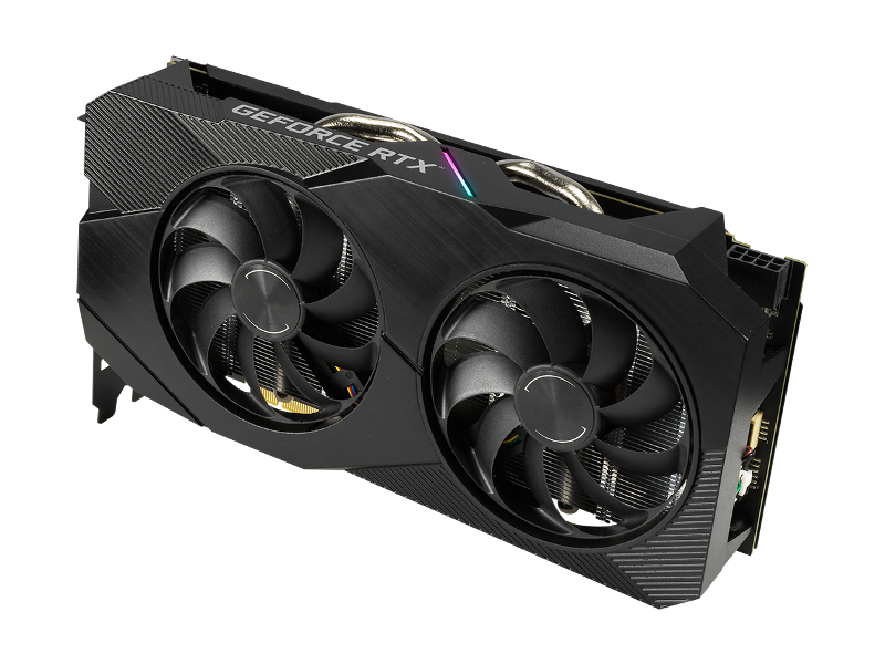 Видеокарта ASUS GeForce RTX 2060 1365Mhz PCI-E 3.0 6144Mb 14000Mhz 192 bit DP 2xHDMI DVI DUAL-RTX2060-O6G-EVO