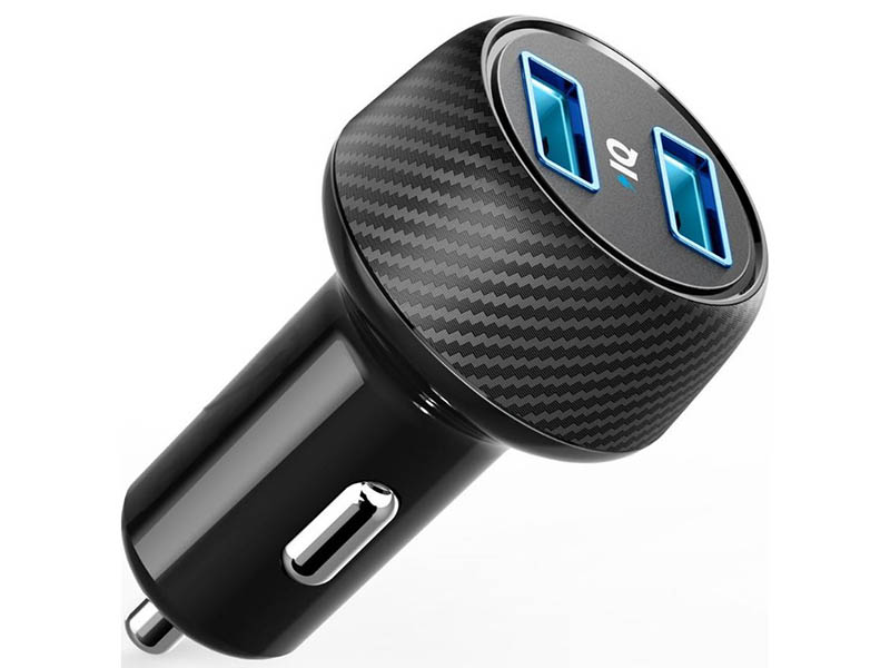 Зарядное устройство Anker PowerDrive 2 Elite 2xUSB 24W 2.4A Black A2212H11