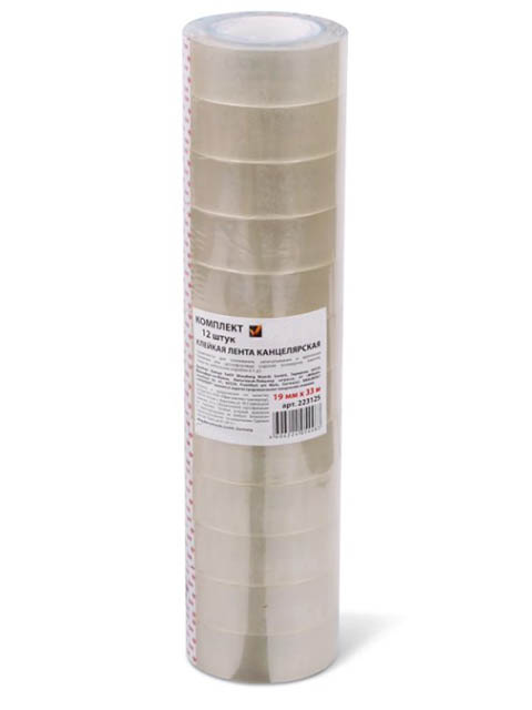 Клейкие ленты Brauberg 19mm x 33m Transparent 223125