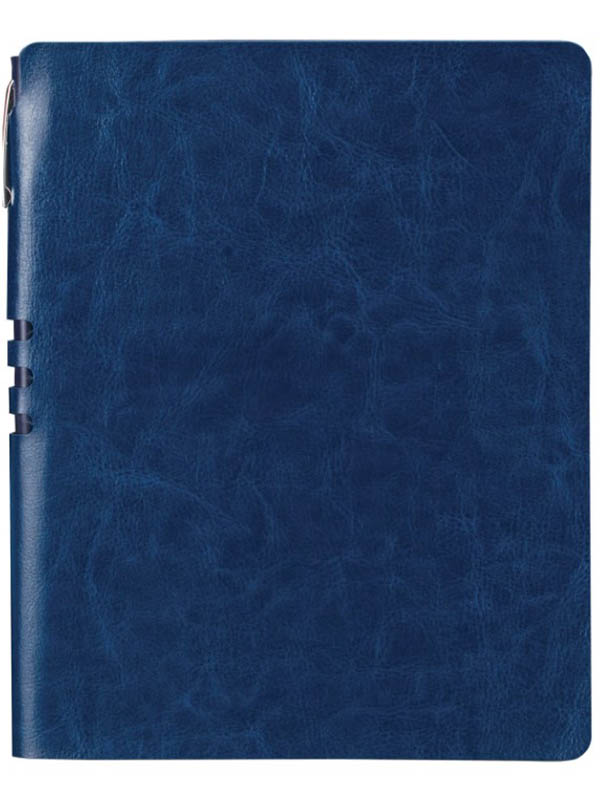 Бизнес-блокнот Brauberg Nebraska А5- 112 листов Dark Blue 10949