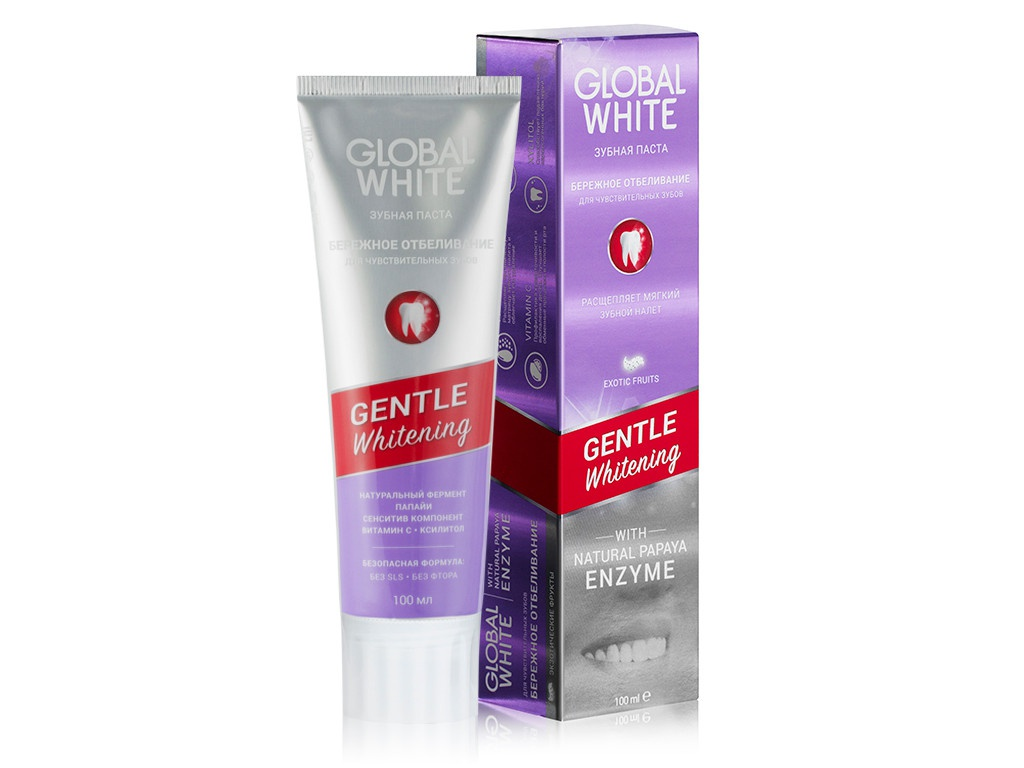 Зубная паста Global White Gentle Whitening 100ml 4605370009750