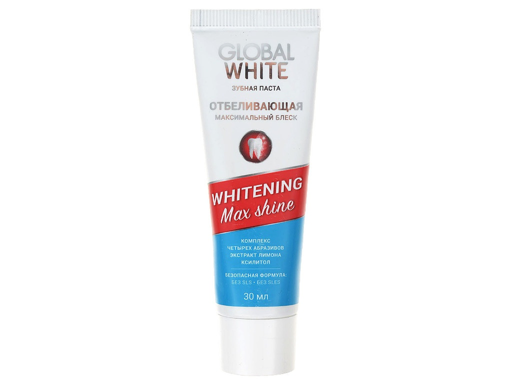 Зубная паста Global White Whitening Max Shine 30ml 4605370003673