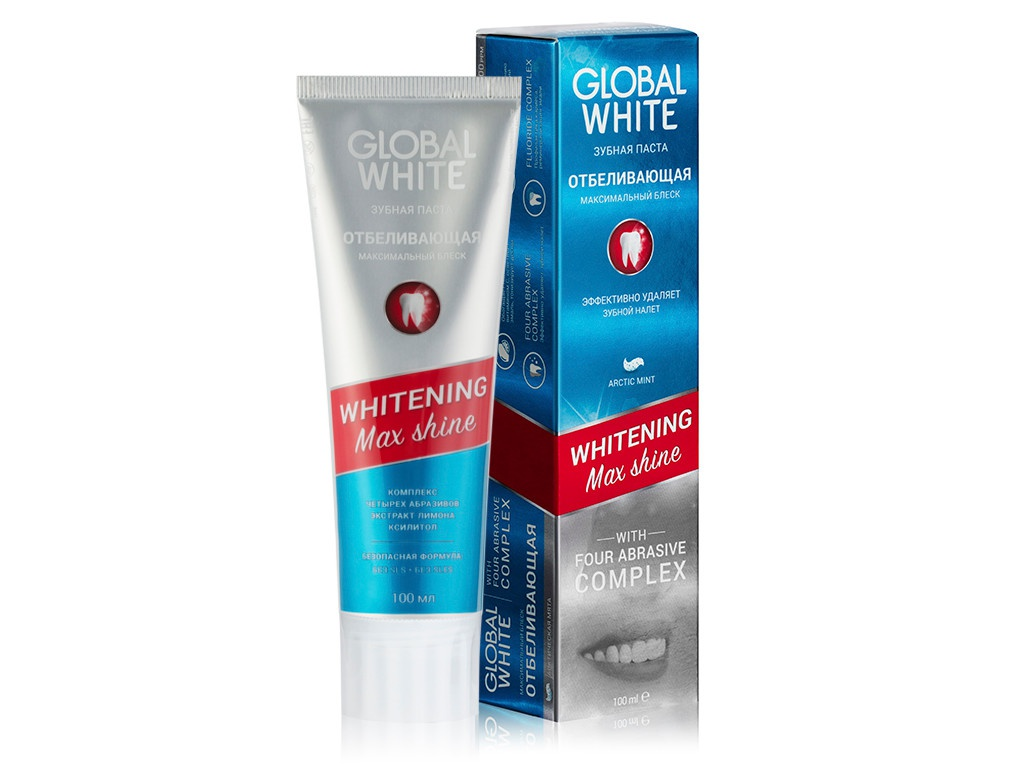 Зубная паста Global White Whitening Max Shine 100g 4605370017717