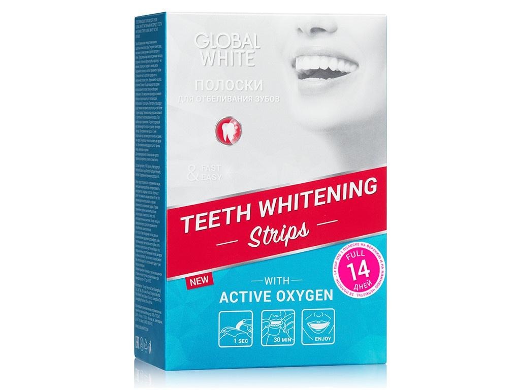 Полоски для отбеливания Global White 14 штук 4605370014587