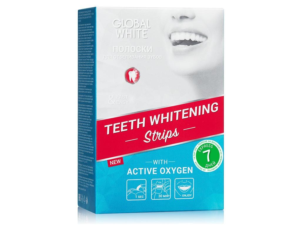 Полоски для отбеливания Global White 7 штук 4605370014570