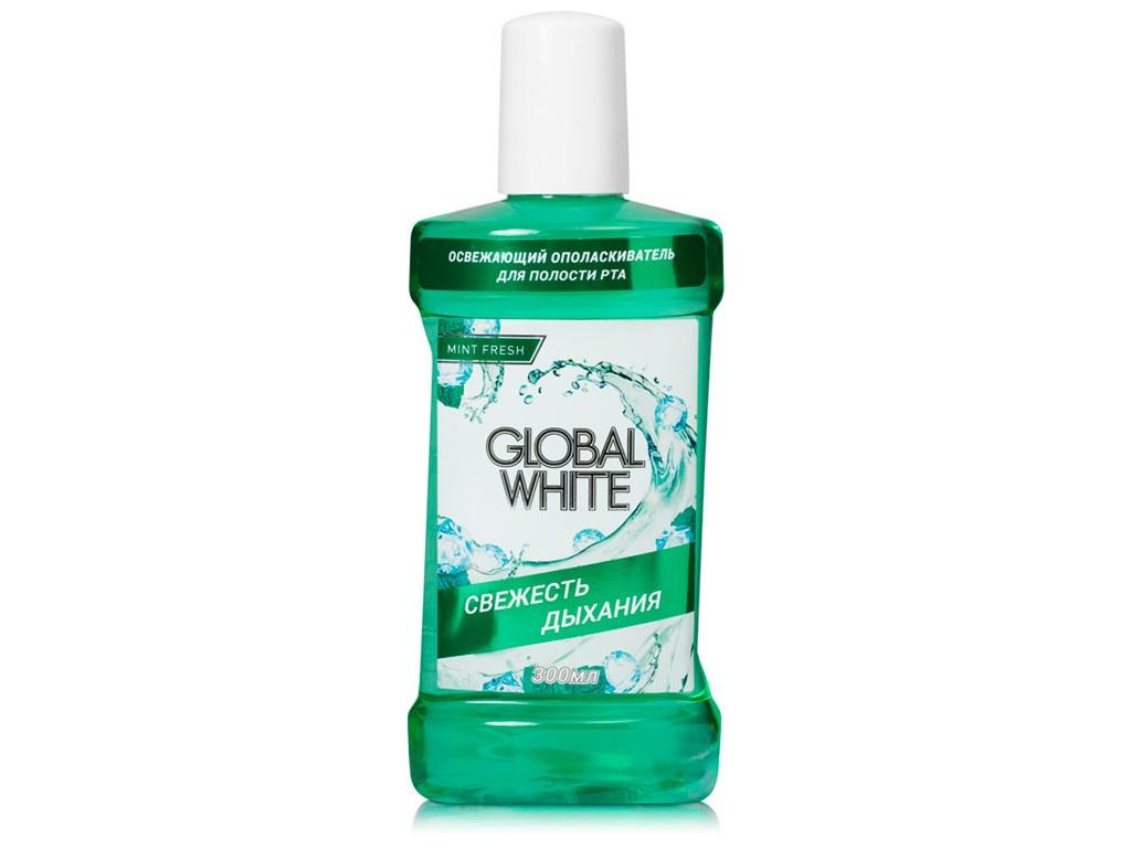 Ополаскиватель освежающий Global White Экстракт оливы и петрушки 300ml 4605370010626