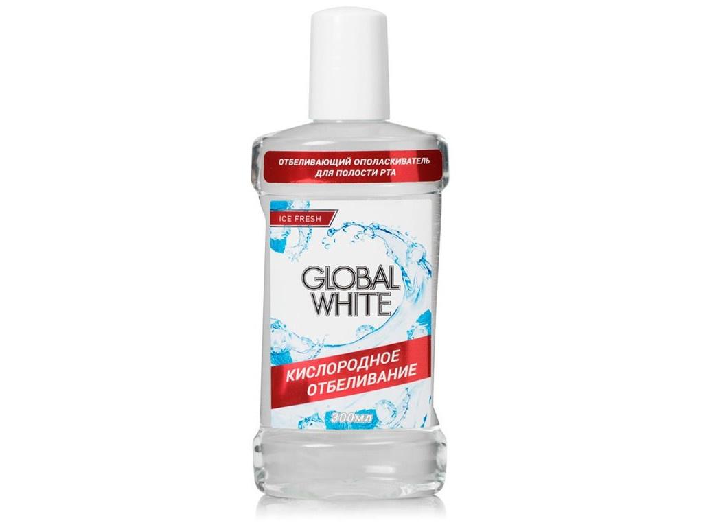 Ополаскиватель отбеливающий Global White Активный кислород 300ml 4605370004175