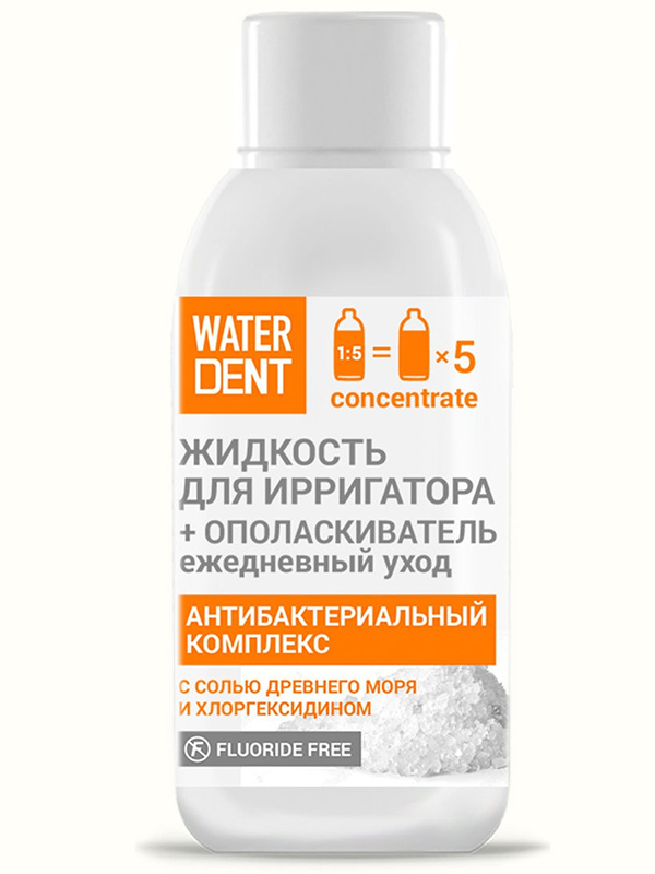 Жидкость для ирригатора Waterdent Антибактериальный комплекс 100ml 4605370017687