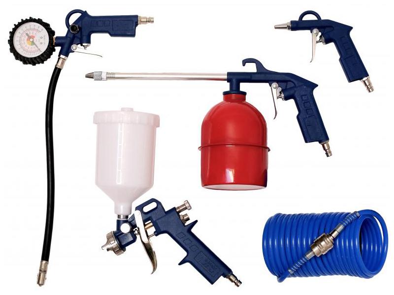 Набор пневмоинструмента Zitrek 5PCS набор пневмоинструмента santool 110401 005