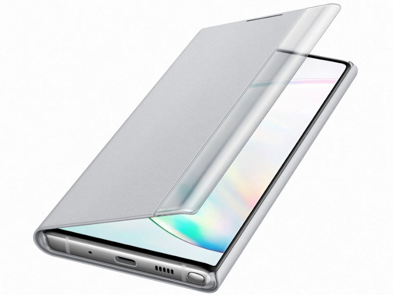 Чехол для Samsung Galaxy Note 10 Clear View Standing Cover Silver EF-ZN970CSEGRU