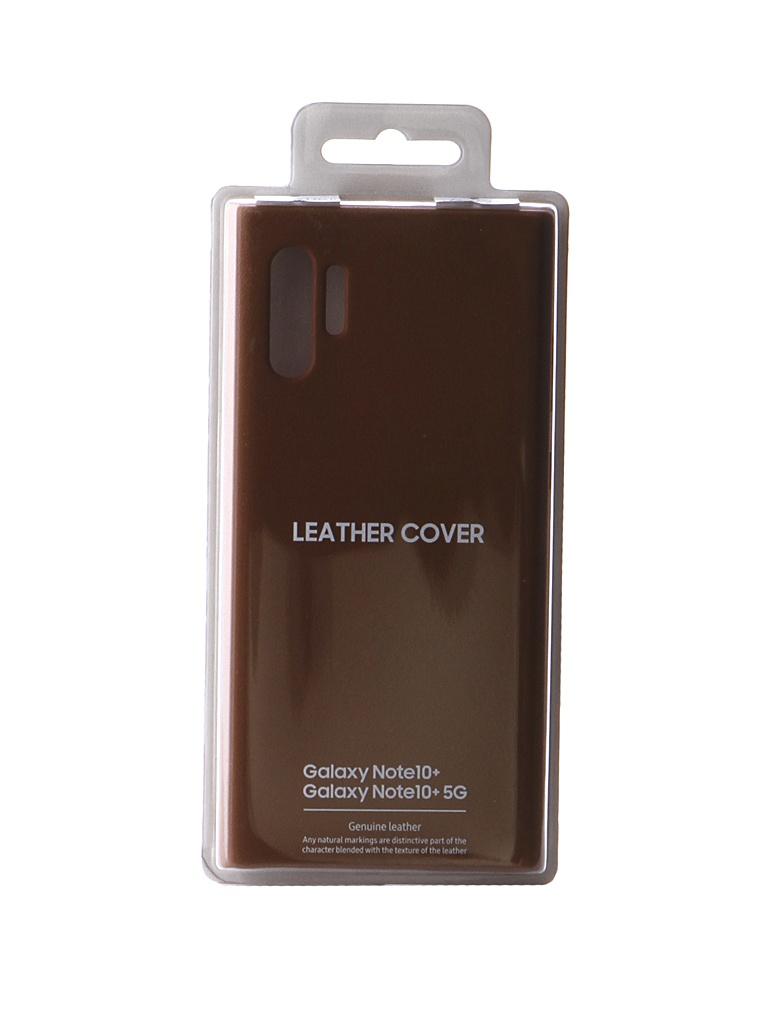 Чехол для Samsung Galaxy Note 10 Plus Leather Cover Beige EF-VN975LAEGRU