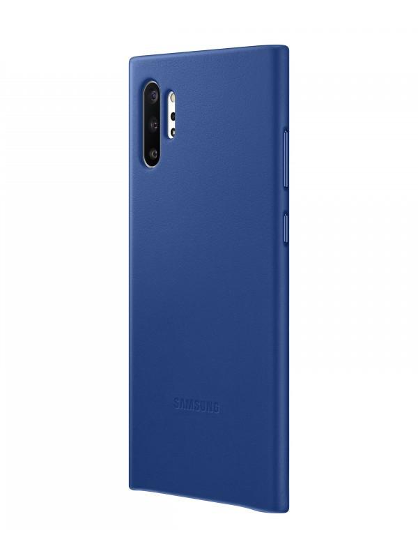 Чехол для Samsung Galaxy Note 10 Plus Leather Cover Blue EF-VN975LLEGRU