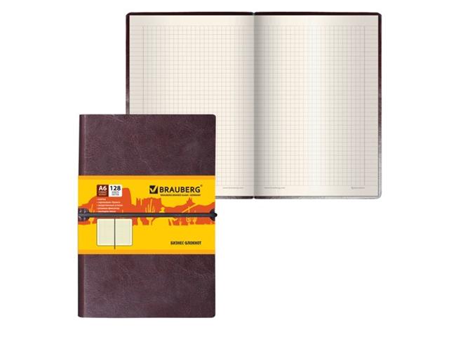 Бизнес-блокнот Brauberg Western А6 128 листов Brown 125241