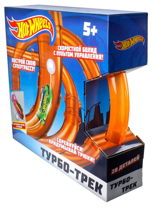 Автотрек 1Toy Hot Wheels Турбо-трек 28 дет. Т14097