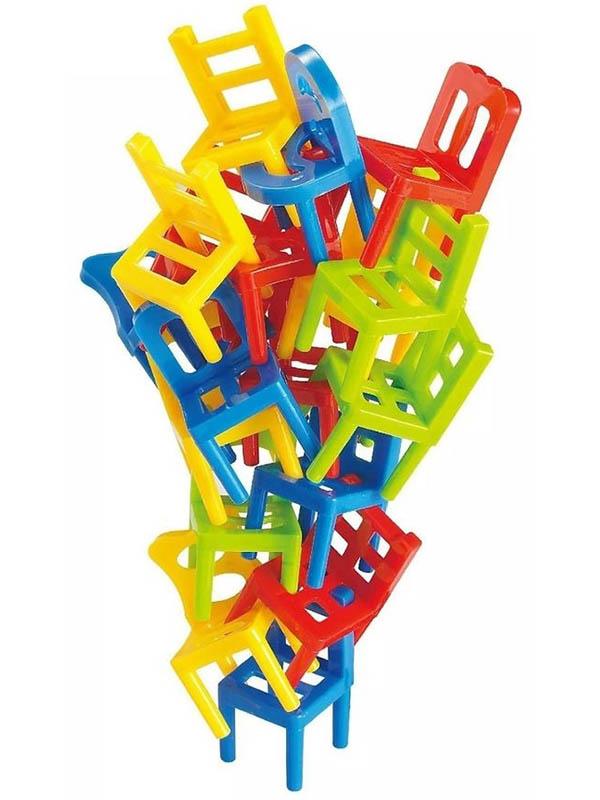 стульчики для кормления Настольная игра 1Toy Балансирующие стульчики Т13545