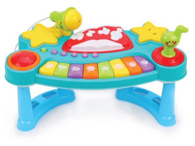 Детский музыкальный инструмент Жирафики Пианино с микрофоном 939659
