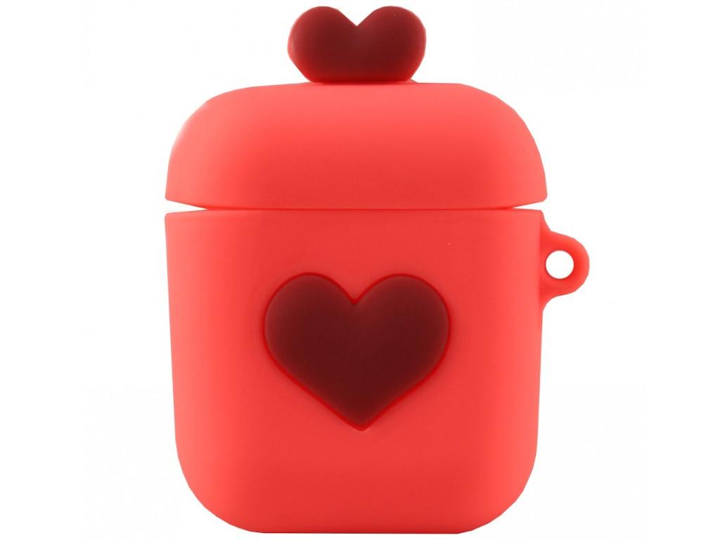 Аксессуар Чехол Activ Soft Touch Love для Apple AirPods 2 Orange 102724