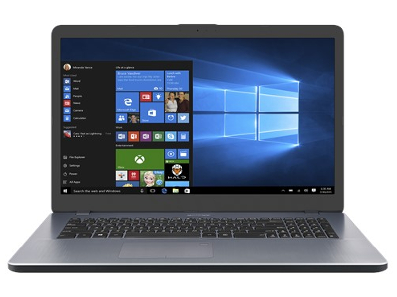 Ноутбук ASUS X705UB-GC316T 90NB0IG2-M03600 (Intel Pentium 4417U 2.3GHz/8192Mb/256Gb SSD/No ODD/nVidia GeForce MX110 2048Mb/Wi-Fi/17.3/1920x1080/Windows 10 64-bit)