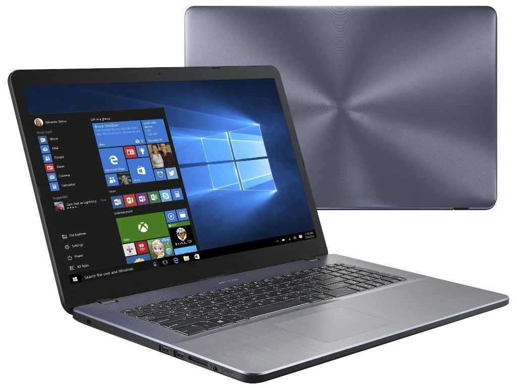 Ноутбук ASUS X705UB-GC306T 90NB0IG2-M03590 (Intel Pentium 4417U 2.3GHz/4096Mb/256Gb SSD/No ODD/nVidia GeForce MX110 2048Mb/Wi-Fi/17.3/1920x1080/Windows 10 64-bit)