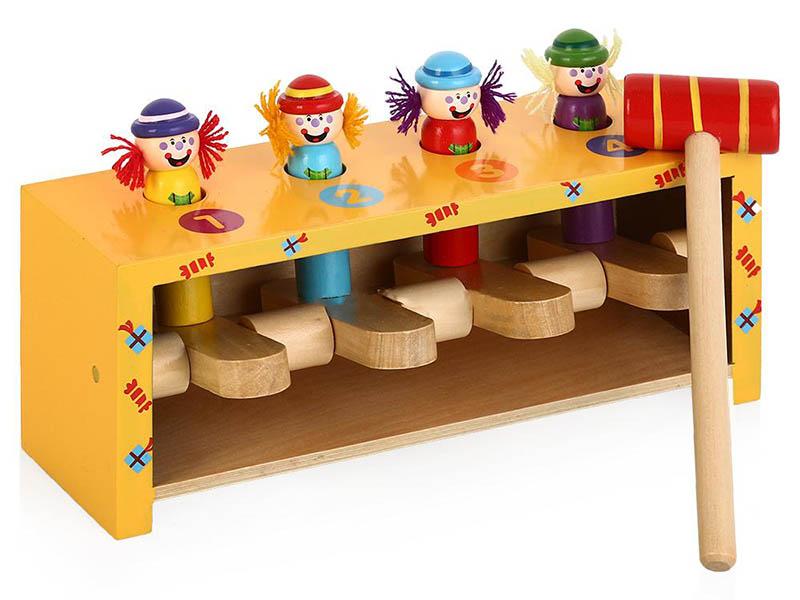 Развивающая игрушка Mapacha Прыгающие клоуны 76540 прыгающие горшочки