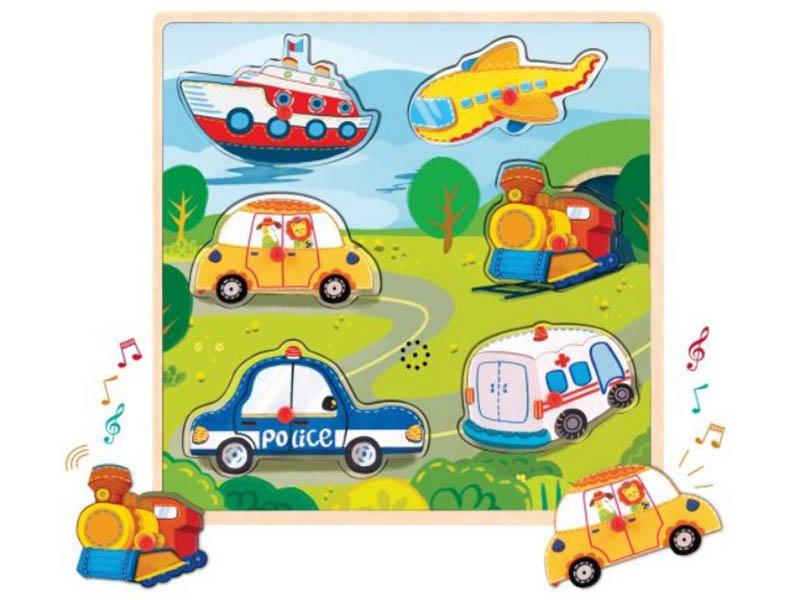Развивающая игрушка Mapacha Вкладыши со звуками Транспорт 76757