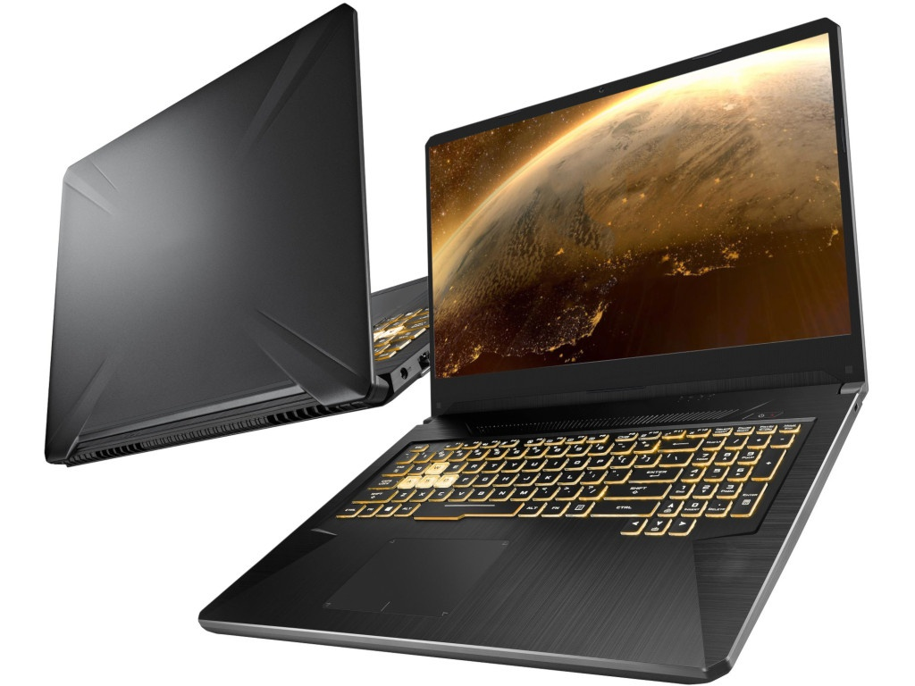 Ноутбук ASUS ROG FX705DU-AU034 90NR0281-M01550 (AMD Ryzen 7 3750H 2.3GHz/8192Mb/1000Gb + 256Gb SSD/No ODD/nVidia GeForce GTX 1660 Ti 6144Mb/Wi-Fi/Cam/17.3/1920x1080/No OS) transcend jetflash 700 8gb ts8gjf700