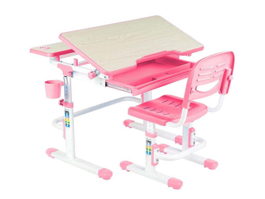 Парта FunDesk Lavoro Pink со стулом