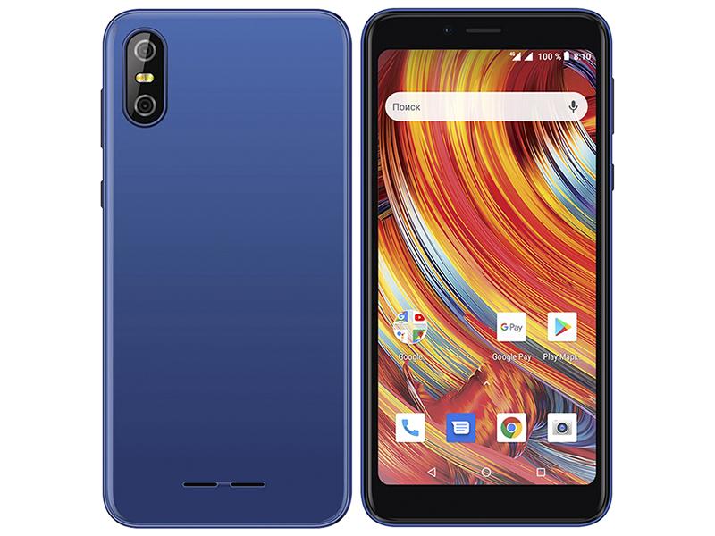 Сотовый телефон teXet TM-5084 Pay 5 4G Blue сотовый телефон texet tm 101