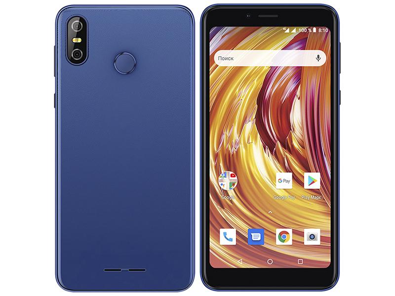 Сотовый телефон teXet TM-5584 Pay 5.5 4G Blue сотовый телефон texet tm 101