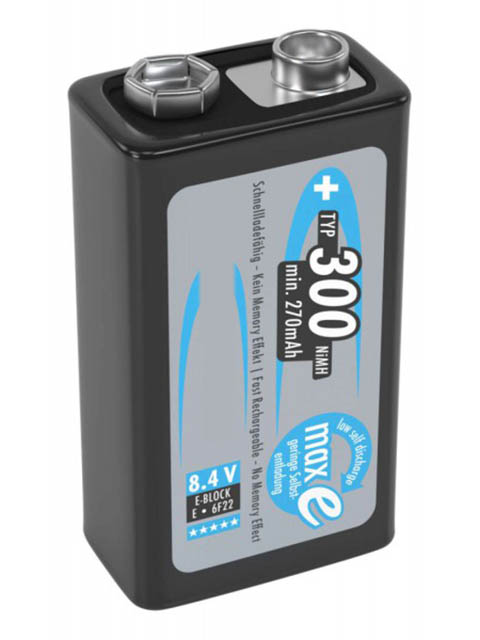 Аккумулятор Крона - Ansmann MaxE 300 mAh BL1 (1 штука) 5035453-RU