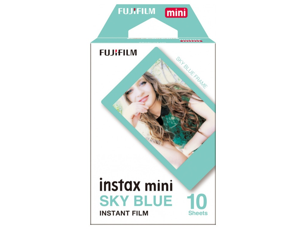 Fujifilm Instax Mini Blue Frame для Instax Mini 8/7S/25/50S/90 / Polaroid 300 Instant 16537055 original fujifilm 10 sheets instax mini stripe instant film photo paper for instax mini 8 7s 25 50s 90 9 sp 1 sp 2 camera