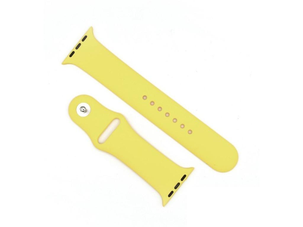 Аксессуар Ремешок Innovation для APPLE Watch 42/44 Yellow 15021