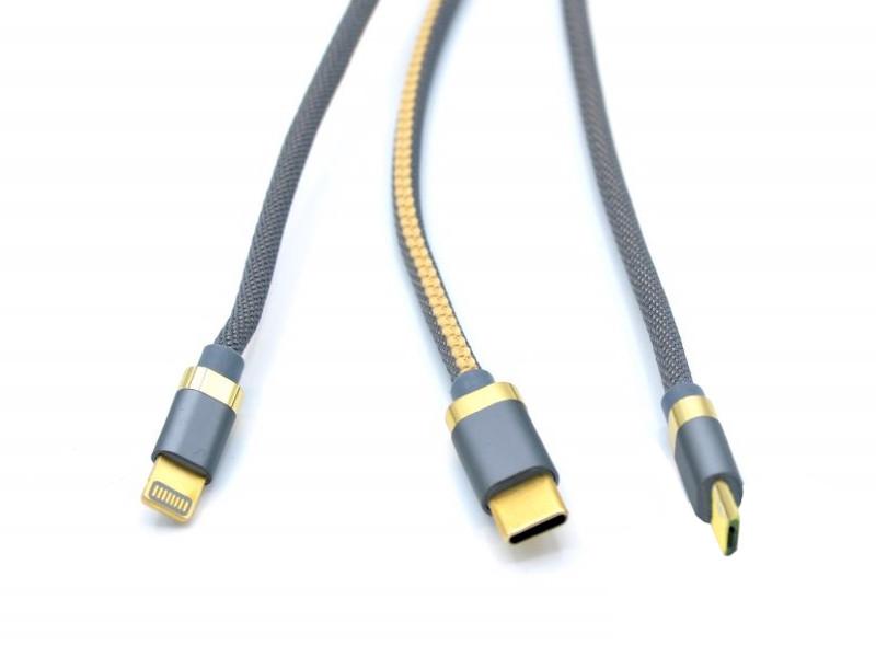 Аксессуар Innovation O3IMT-OCTOPUS Lux 3в1 USB - MicroUSB/Type-C/Lightning 1.2m 2A Grey 14782 кабель для телефона usb innovation o3imt octopus 3 в 1 длина 1 2 метр 2a белый